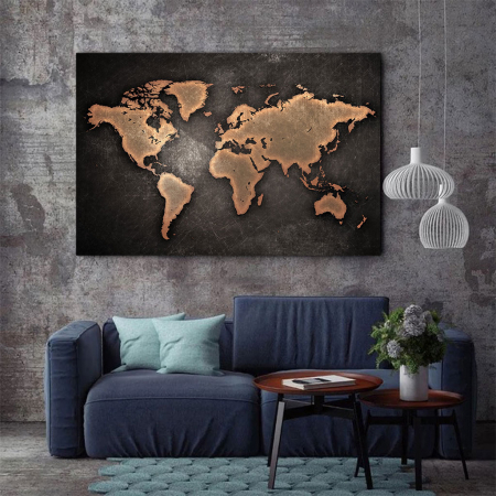 Tablou Canvas - World map2