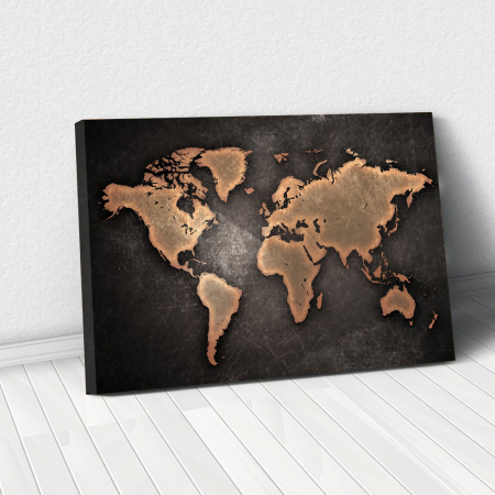 Tablou Canvas - World map0