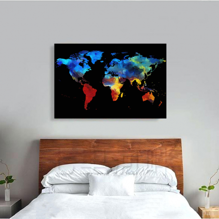 Tablou Canvas - Harta colorful1
