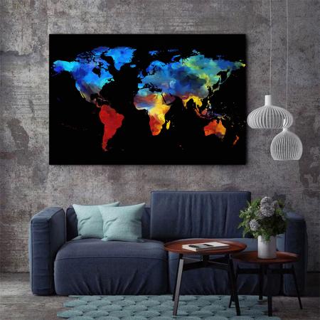 Tablou Canvas - Harta colorful2