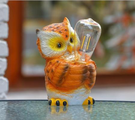 Lampă solară LED bufniță 21 cm1