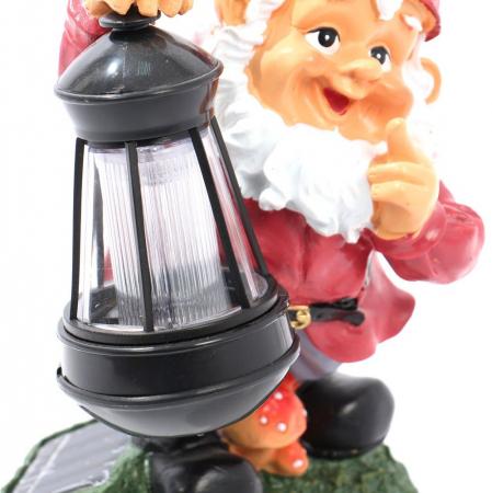 Lampă solară LED ,pitic cu felinar 28 cm [2]