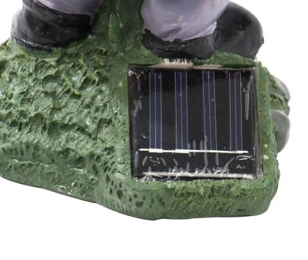 Lampă solară LED ,pitic cu felinar 28 cm [3]