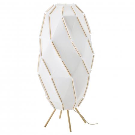 Lampadar Hera, bază din lemn, alb - 1m0