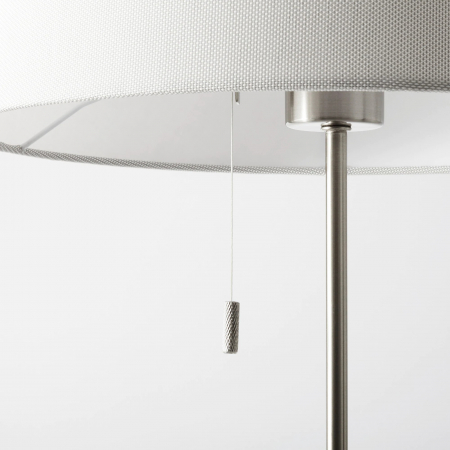 Lampadar reglabil, alb, oțel - 168cm3