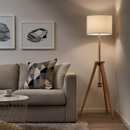 Lampadar Cora din lemn, reglabil - 151cm [1]