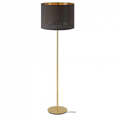 Lampadar Majestic cu abrajur perforat, maro - 163cm0