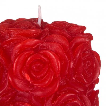 Lumânare roșie 3D,7x13.5 cm1
