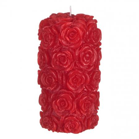 Lumânare roșie 3D,7x13.5 cm0