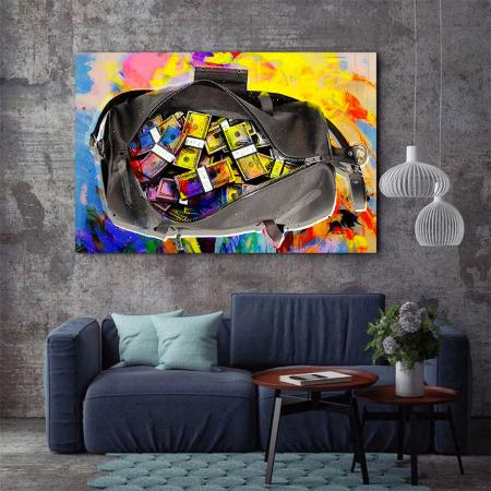 Tablou Canvas - Money bag2
