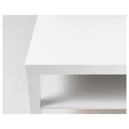Măsuță de cafea albă, PAL - 118x78cm [2]