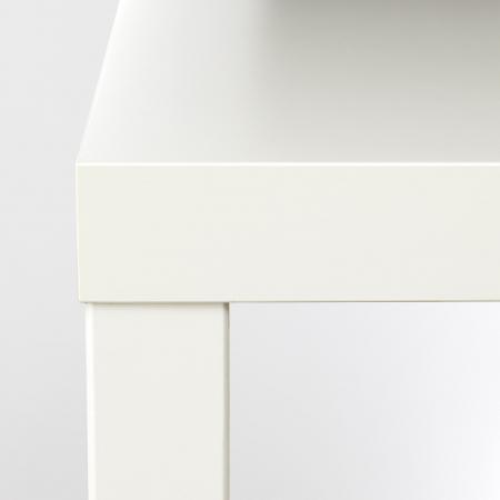 Măsuță de cafea albă, PAL - 55x55cm4