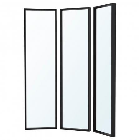 Oglinda tripla ,negru 130x1501