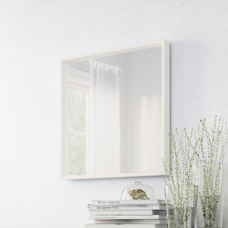 Oglindă, alba 65x65 cm2