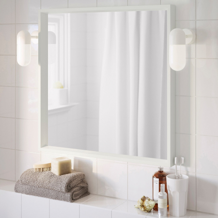 Oglindă, alba 65x65 cm0