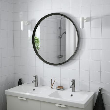 Oglindă, gri închis - 80 cm [2]