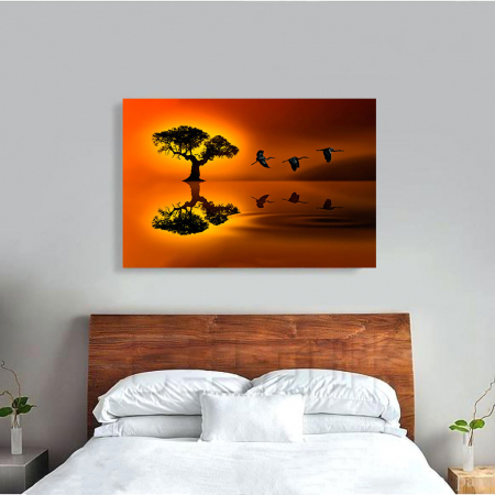 Tablou Canvas - Sunset flight1
