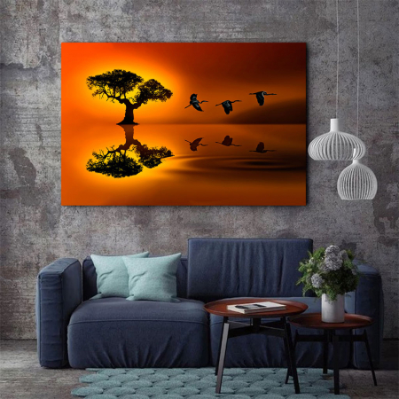 Tablou Canvas - Sunset flight3