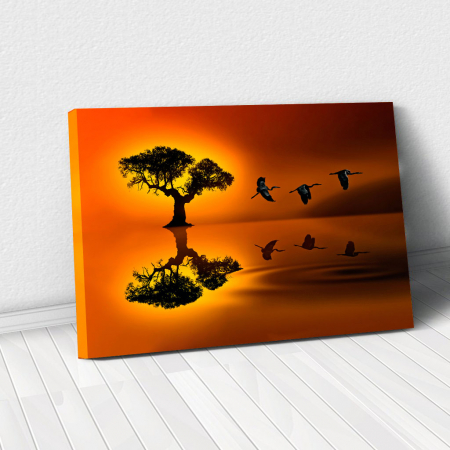 Tablou Canvas - Sunset flight0