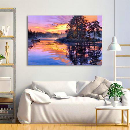 Tablou Canvas - Fall sunset [1]