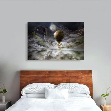 Tablou Canvas - Blue Mountain Balloons2
