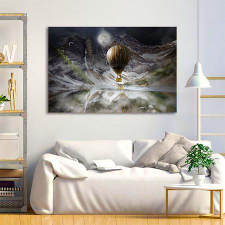 Tablou Canvas - Blue Mountain Balloons3