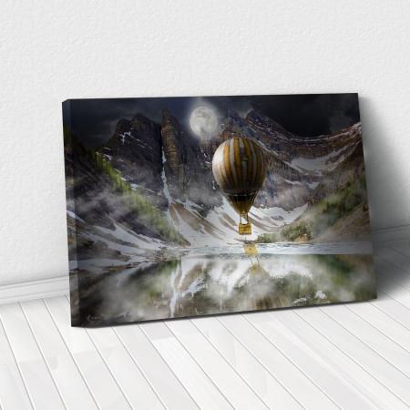 Tablou Canvas - Blue Mountain Balloons0