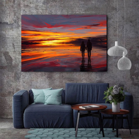 Tablou Canvas - Sunset in love2