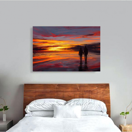 Tablou Canvas - Sunset in love3