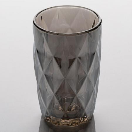 Pahar cu model,diamant metalic,sticlă,350 ml [0]