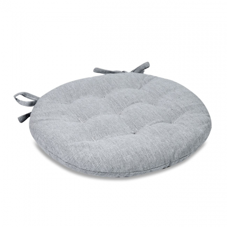 Pernă pentru șezut, rotundă, bumbac, gri, 40 cm1