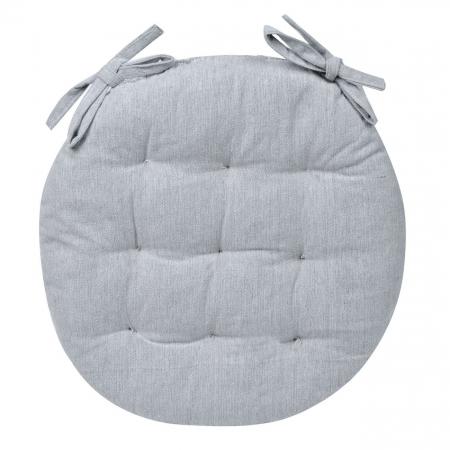 Pernă pentru șezut, rotundă, bumbac, gri, 40 cm0
