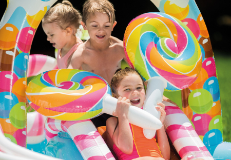 Piscina gonflabila sweet Candy, pentru copii, cu accesorii, 295 x 191 x 130 cm [2]