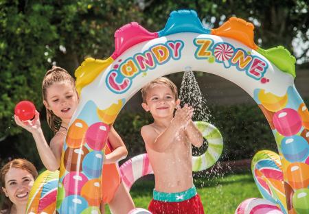 Piscina gonflabila sweet Candy, pentru copii, cu accesorii, 295 x 191 x 130 cm [3]