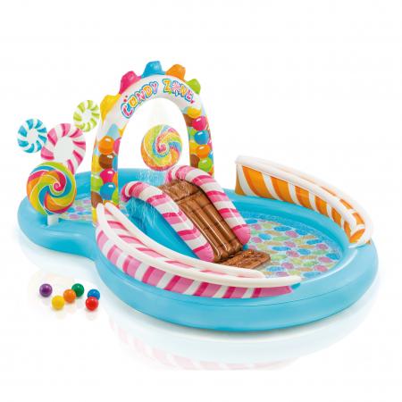Piscina gonflabila sweet Candy, pentru copii, cu accesorii, 295 x 191 x 130 cm [0]