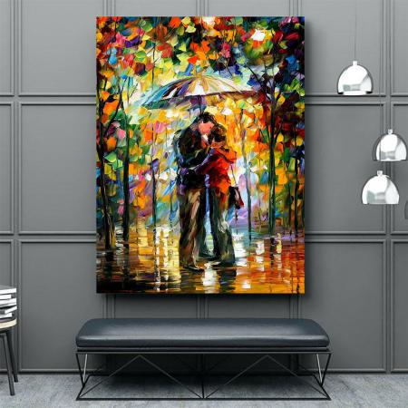 Tablou Canvas - Kiss in the rain2