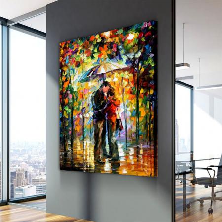 Tablou Canvas - Kiss in the rain [3]