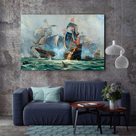 Tablou Canvas - Ships War3
