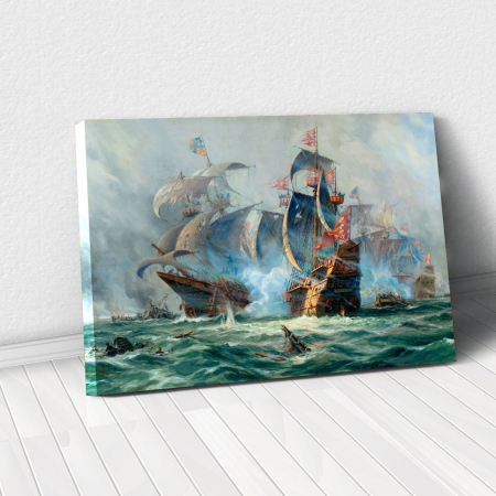 Tablou Canvas - Ships War0