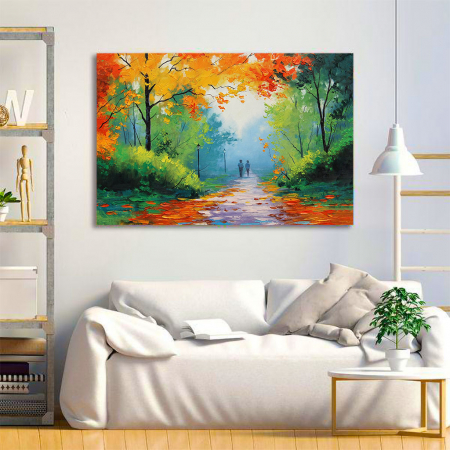Tablou Canvas - Peisaj de toamna1