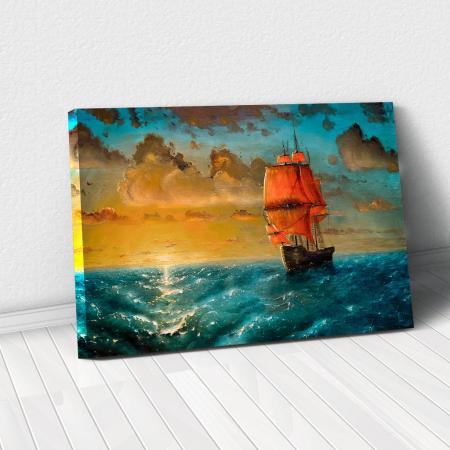 Tablou Canvas - Sailing on sunset0