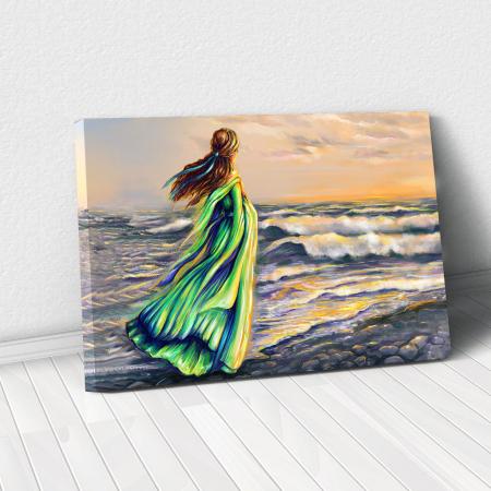 Tablou Canvas - Plimbare pe plaja0