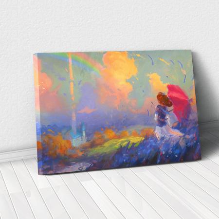 Tablou Canvas - Rainbow walk [0]