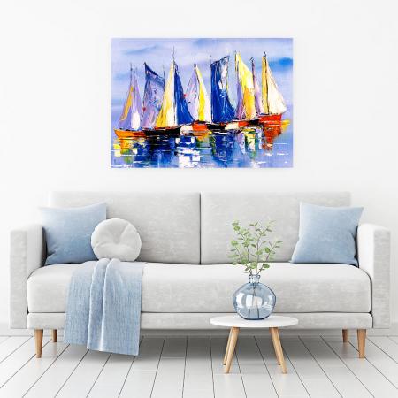 Tablou Canvas - Colourful Boats [1]