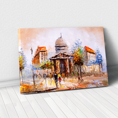 Tablou Canvas - Street view in France0