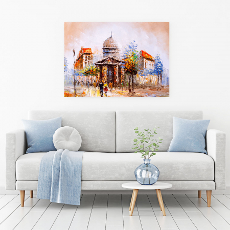 Tablou Canvas - Street view in France1