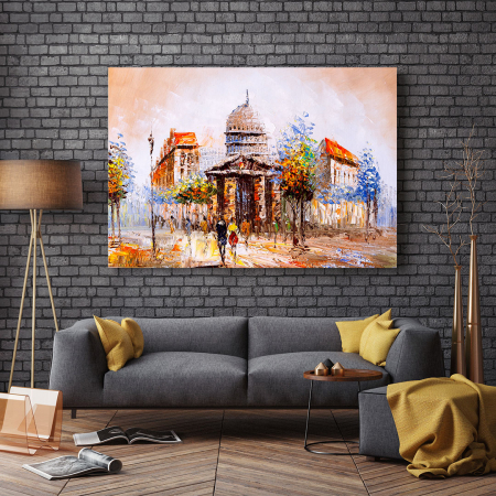 Tablou Canvas - Street view in France2
