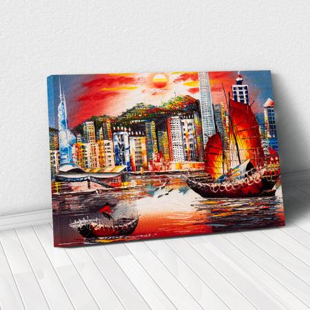 Tablou Canvas - Hong Kong View0