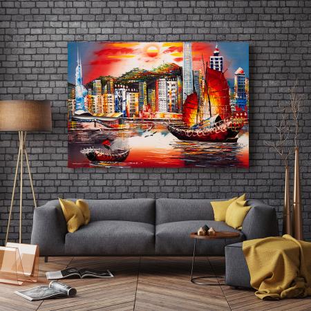 Tablou Canvas - Hong Kong View2