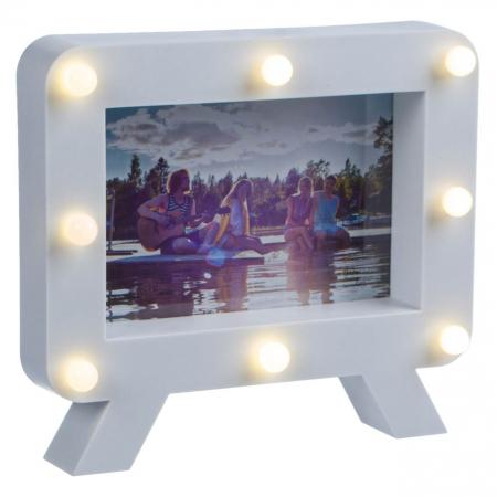 Rama foto cu 8 becuri LED - 15x10cm [1]